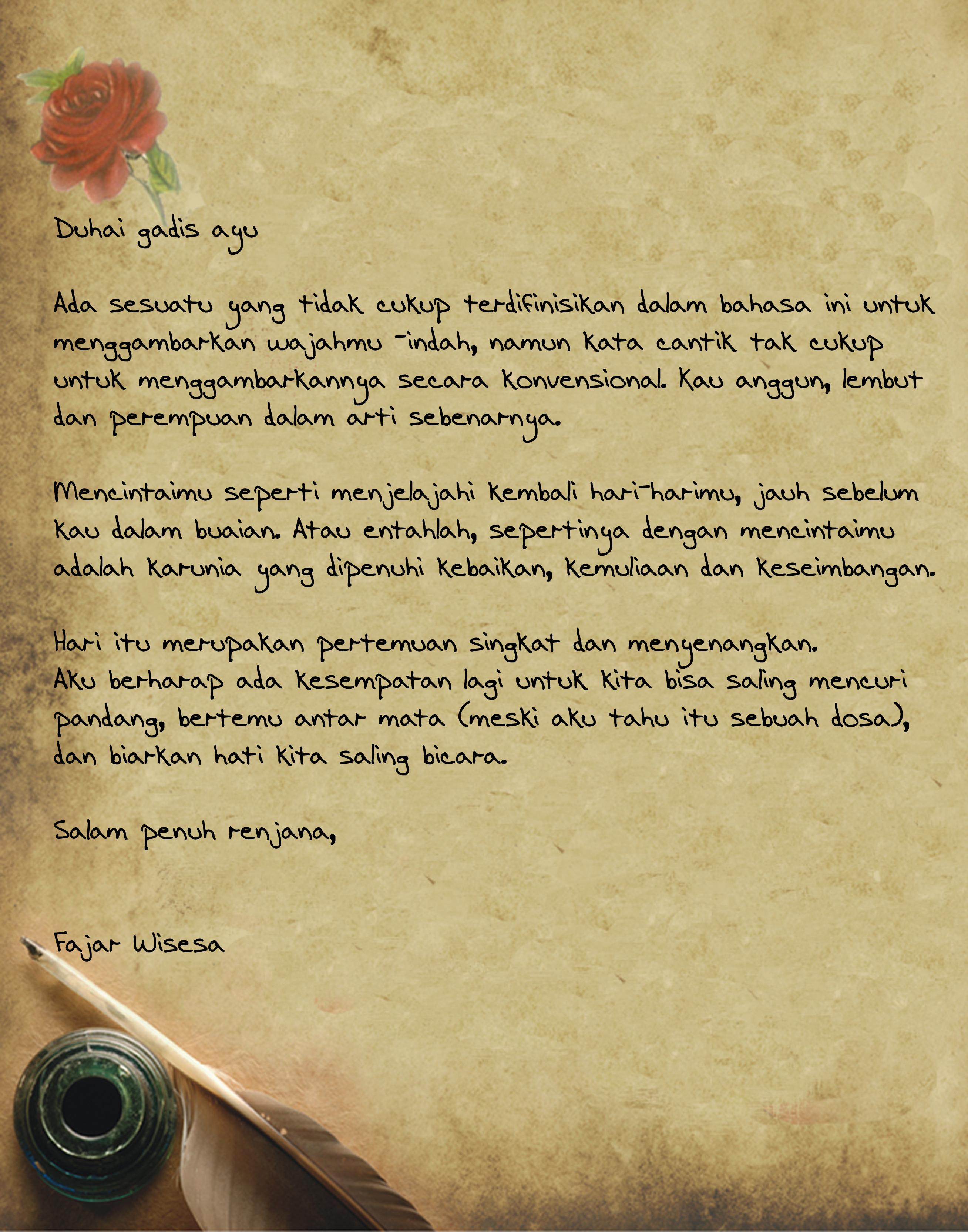Surat Cinta Fajar Wisesas Blog